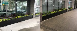 Watertight aluminum planters – drainage solution